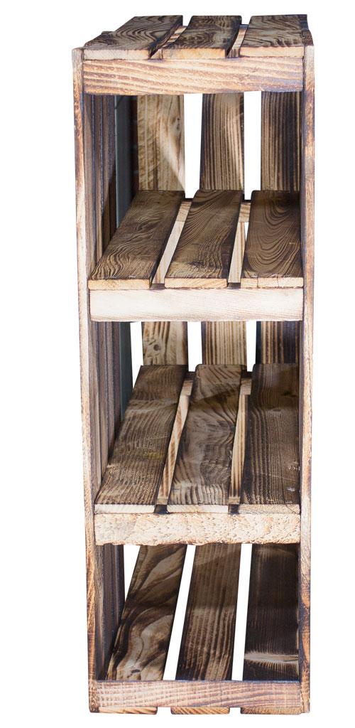 holzkisten schreibtisch unterbau aus geflammten holzkisten rechts 74x65x35cm obstkisten. Black Bedroom Furniture Sets. Home Design Ideas