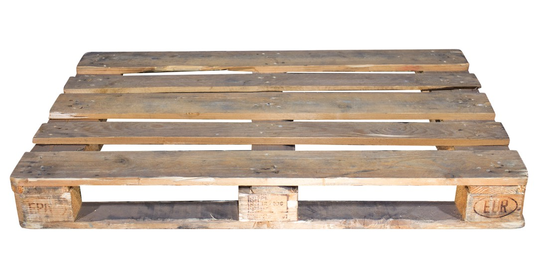 Gebrauchte Holzpalette 120x80x16cm