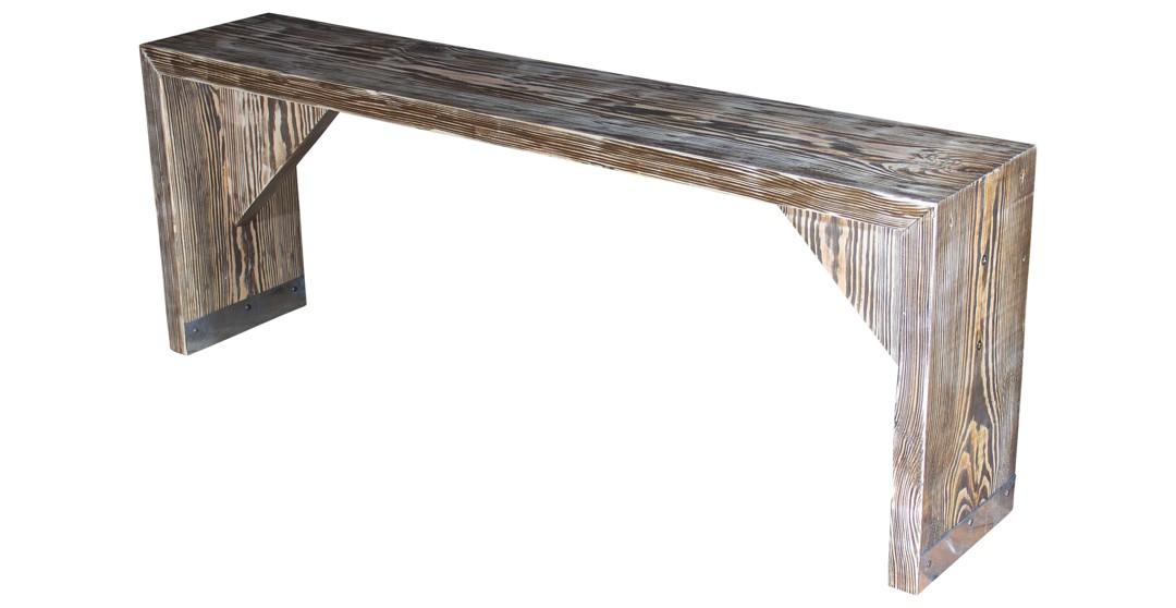 bohlenm bel sitzbank aus ger stbohlen 120x24x45cm obstkisten. Black Bedroom Furniture Sets. Home Design Ideas