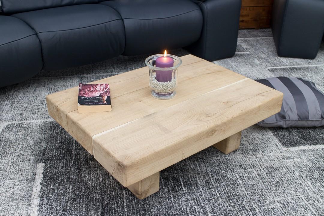 eichenm bel niedriger heller couchtisch low 80x58x29cm obstkisten deutschlands. Black Bedroom Furniture Sets. Home Design Ideas