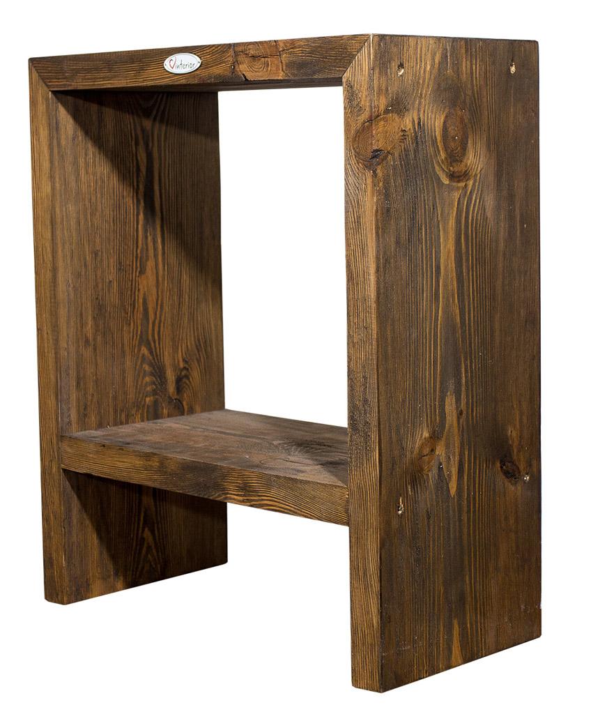 by vinterior moderner vinterior design beistelltisch aus eichenholz 50x25x60 5cm. Black Bedroom Furniture Sets. Home Design Ideas
