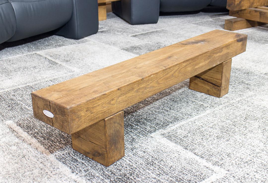 wohnzimmer niedrige vinterior sitzbank aus massivem. Black Bedroom Furniture Sets. Home Design Ideas