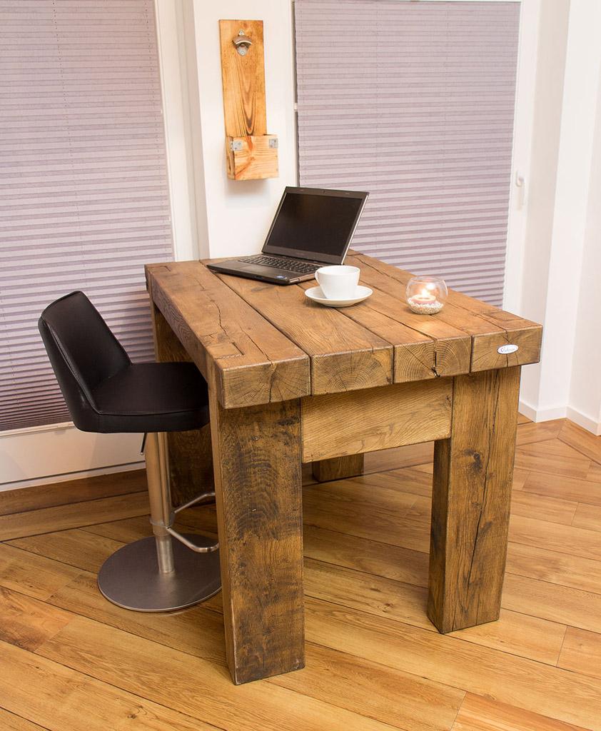 k che hochwertiger marken esstisch aus massivem eichenholz 120x86x80cm obstkisten. Black Bedroom Furniture Sets. Home Design Ideas