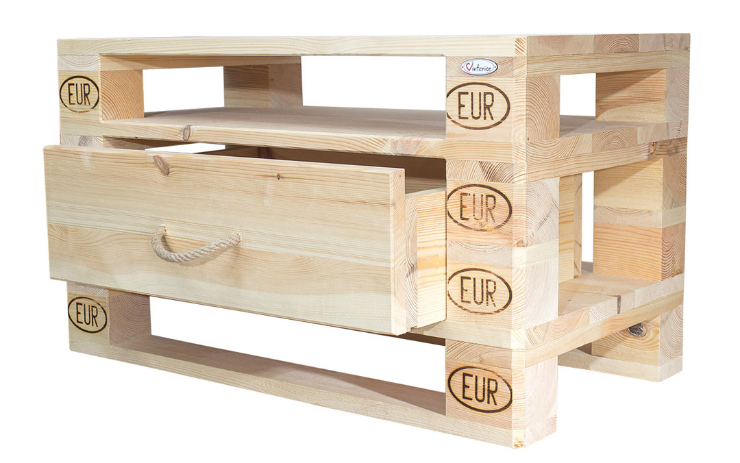 palettenregal helle vinterior kommode aus palettenholz 90x52x49cm obstkisten. Black Bedroom Furniture Sets. Home Design Ideas