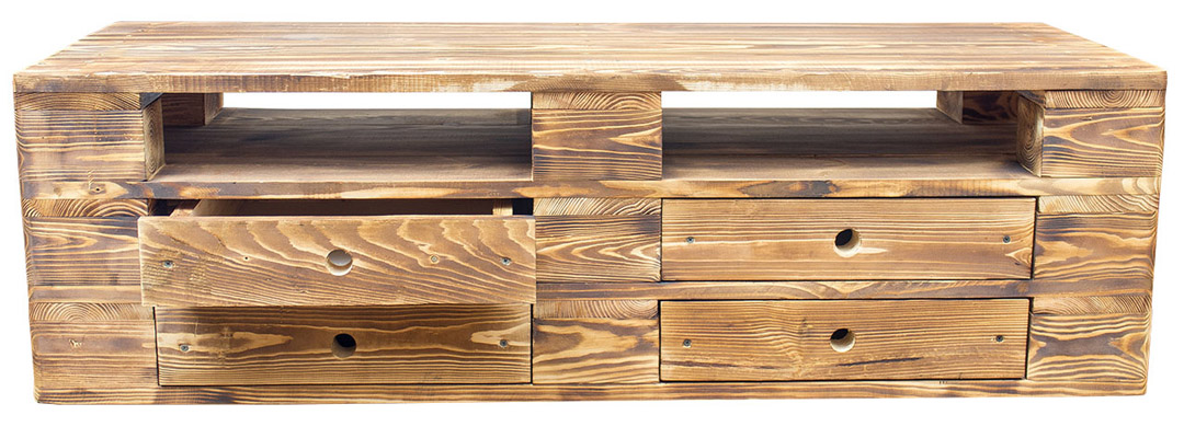 Restposten m bel vintage lowboard tv kommode aus for Regal aus palettenholz