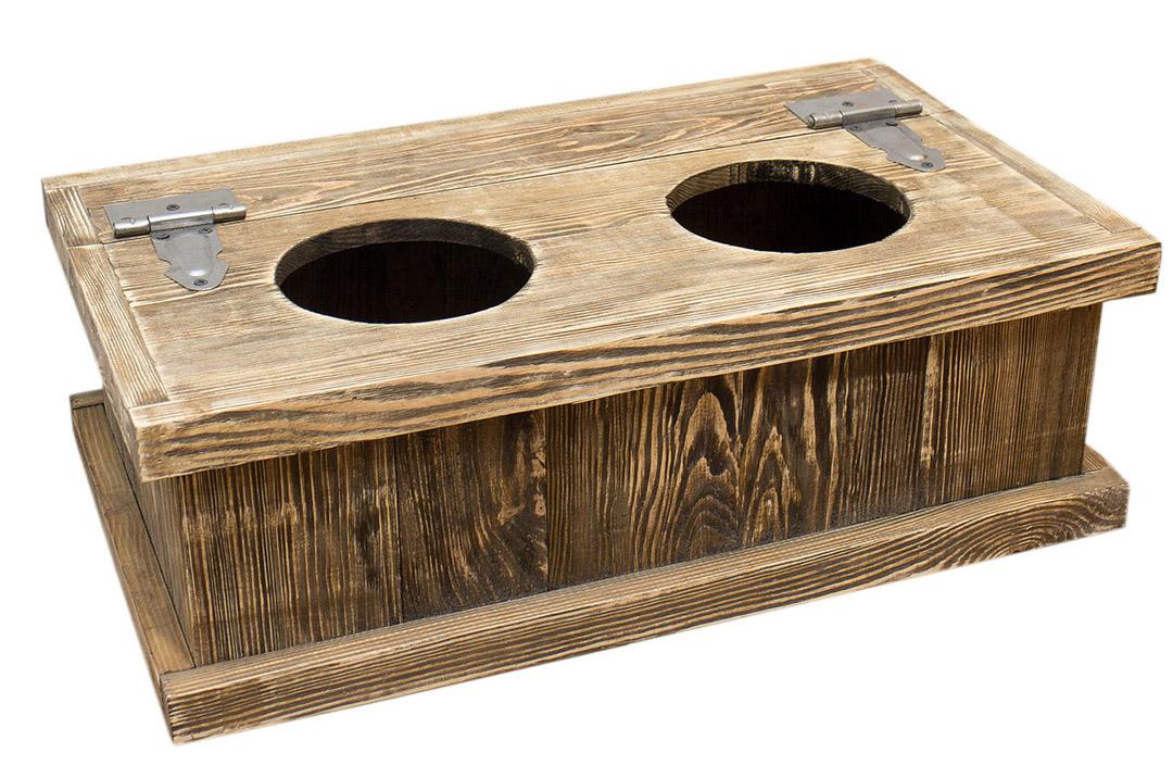 upcycling kleine used look hundenapf station und truhe. Black Bedroom Furniture Sets. Home Design Ideas
