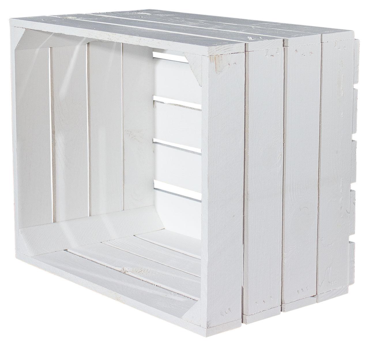 Neue weiße Apfelkiste 50x40x30cm