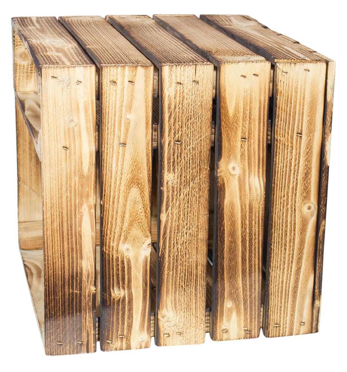 sparpakete 3 kompakte regalkisten in geflammter optik 42x38x38cm obstkisten online shop. Black Bedroom Furniture Sets. Home Design Ideas