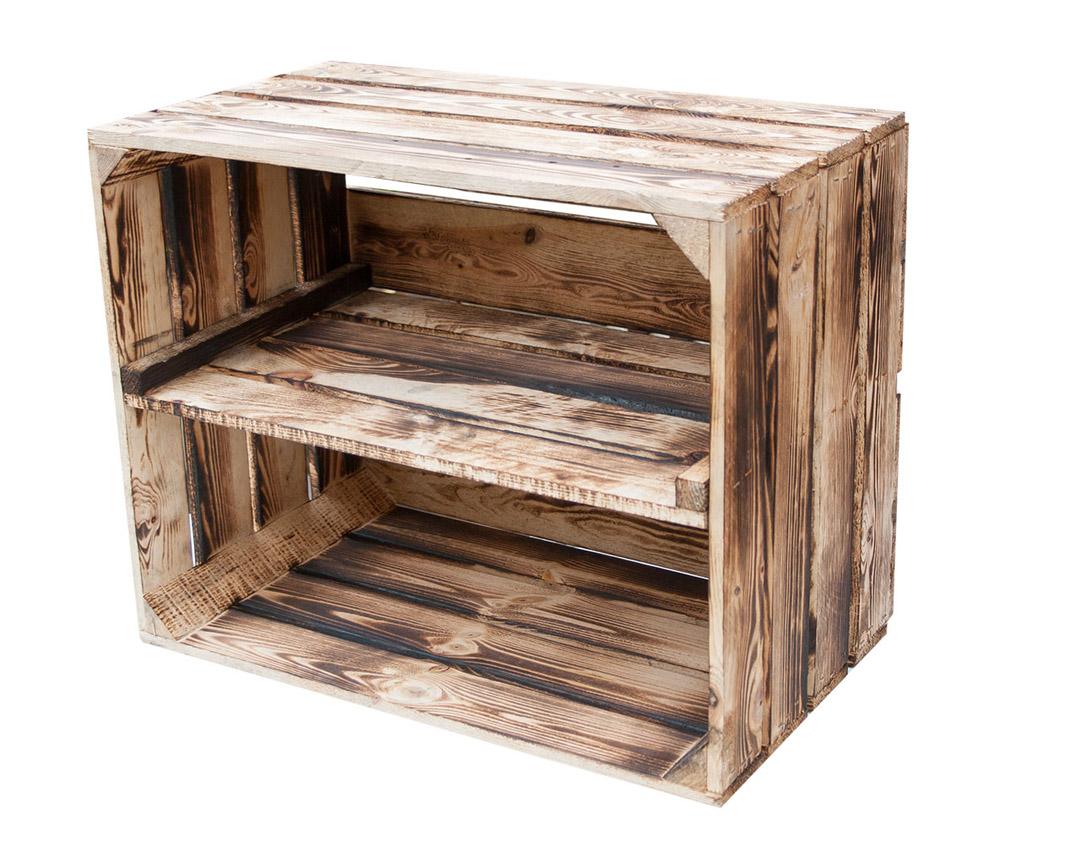 Geflammte Kiste für Schuh-und Bücherregal 50x40x30cm