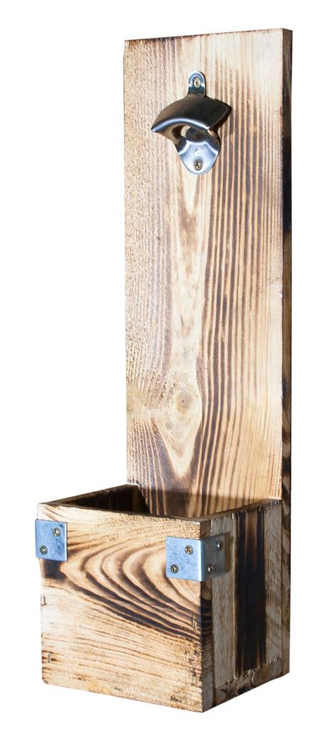 Wand-Flaschenöffner - Geflammte Optik 50x15x13cm