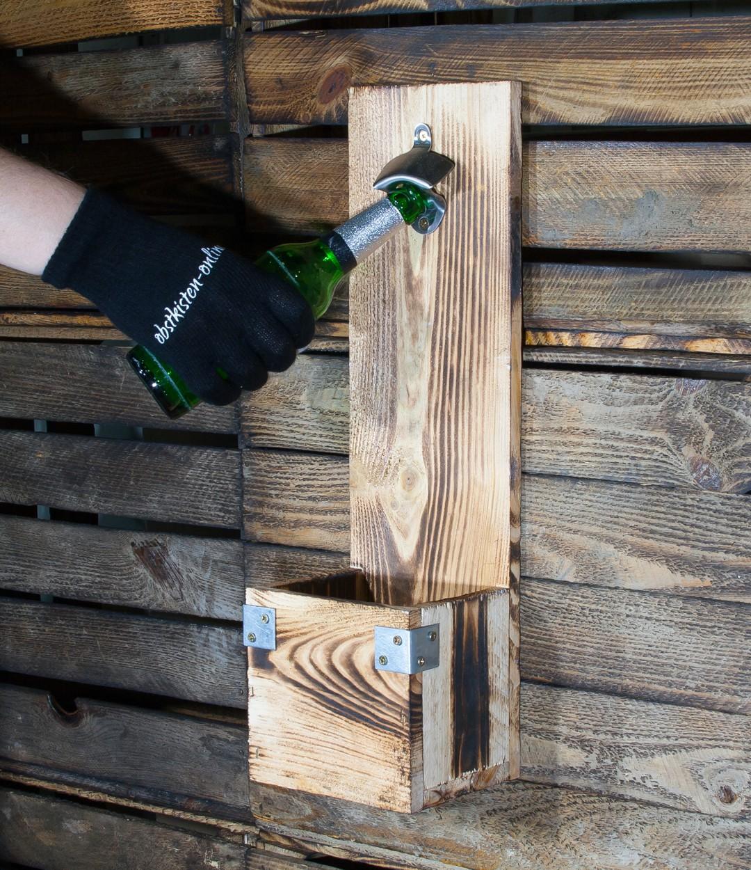 N tzliches wand flaschen ffner geflammte optik 50x15x13cm obstkisten online shop - Holzkisten wand ...