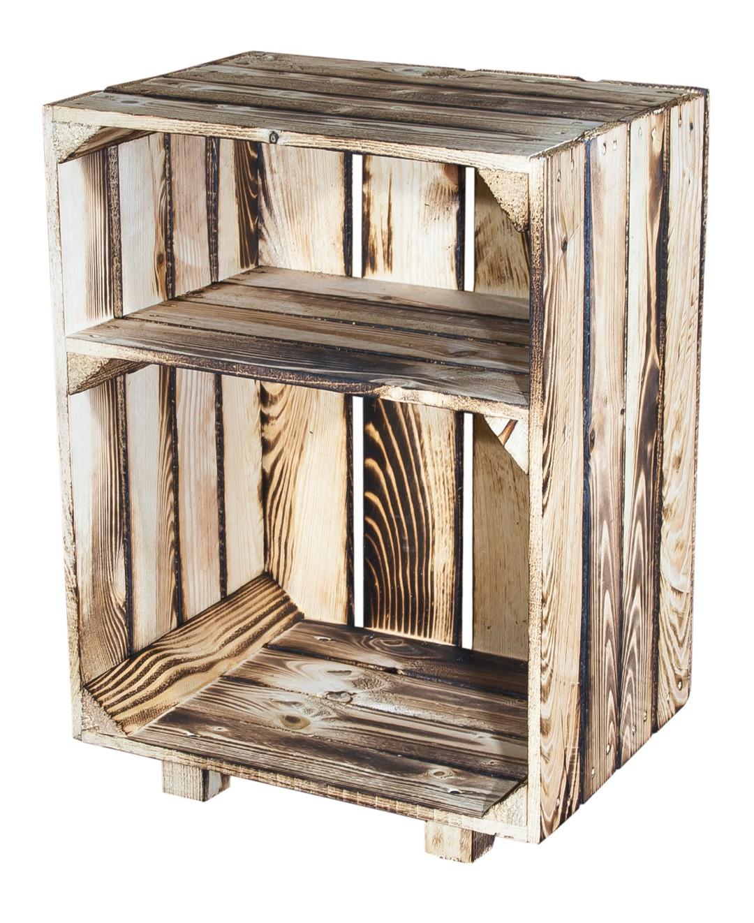 Nachttisch mit Boden in *geflammt* 30,5x40x54cm