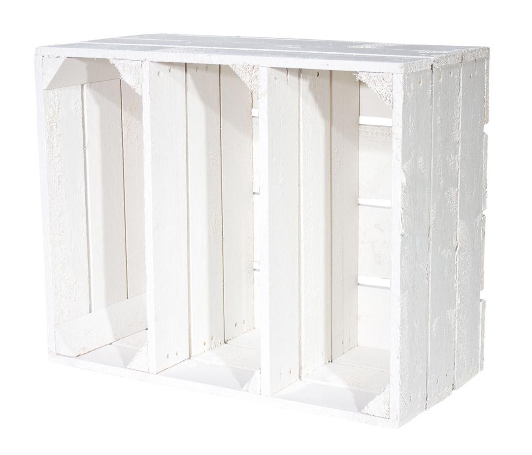 farbige kisten gew rzregal mit 2 b den in shabby chic 50x40 5x24 obstkisten. Black Bedroom Furniture Sets. Home Design Ideas