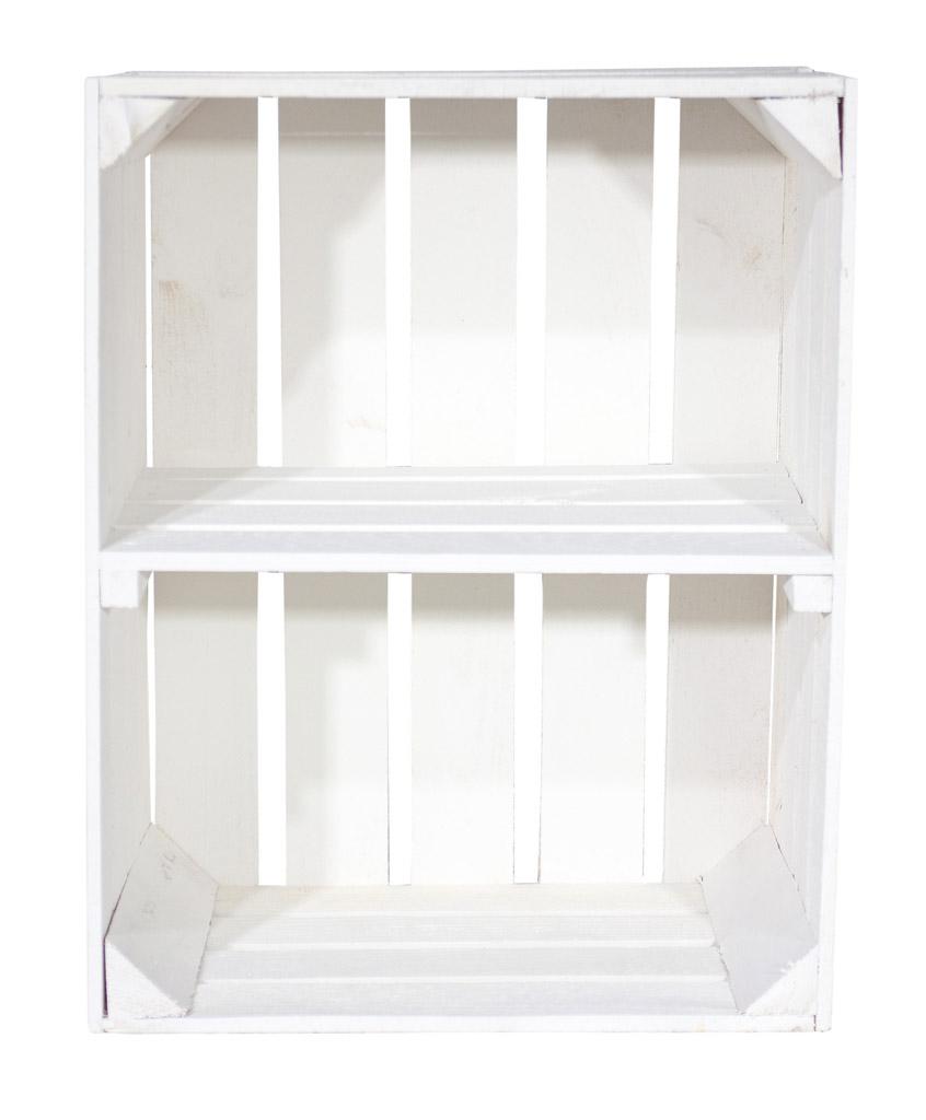 Neue Holzkisten  Weiße Kiste für Schuhund Bücherregal  ~ Bücherregal Quer