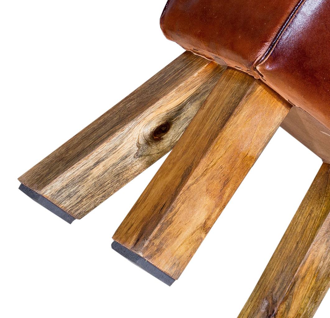 alle m bel vintage leder sitzhocker 38x23x42cm obstkisten. Black Bedroom Furniture Sets. Home Design Ideas