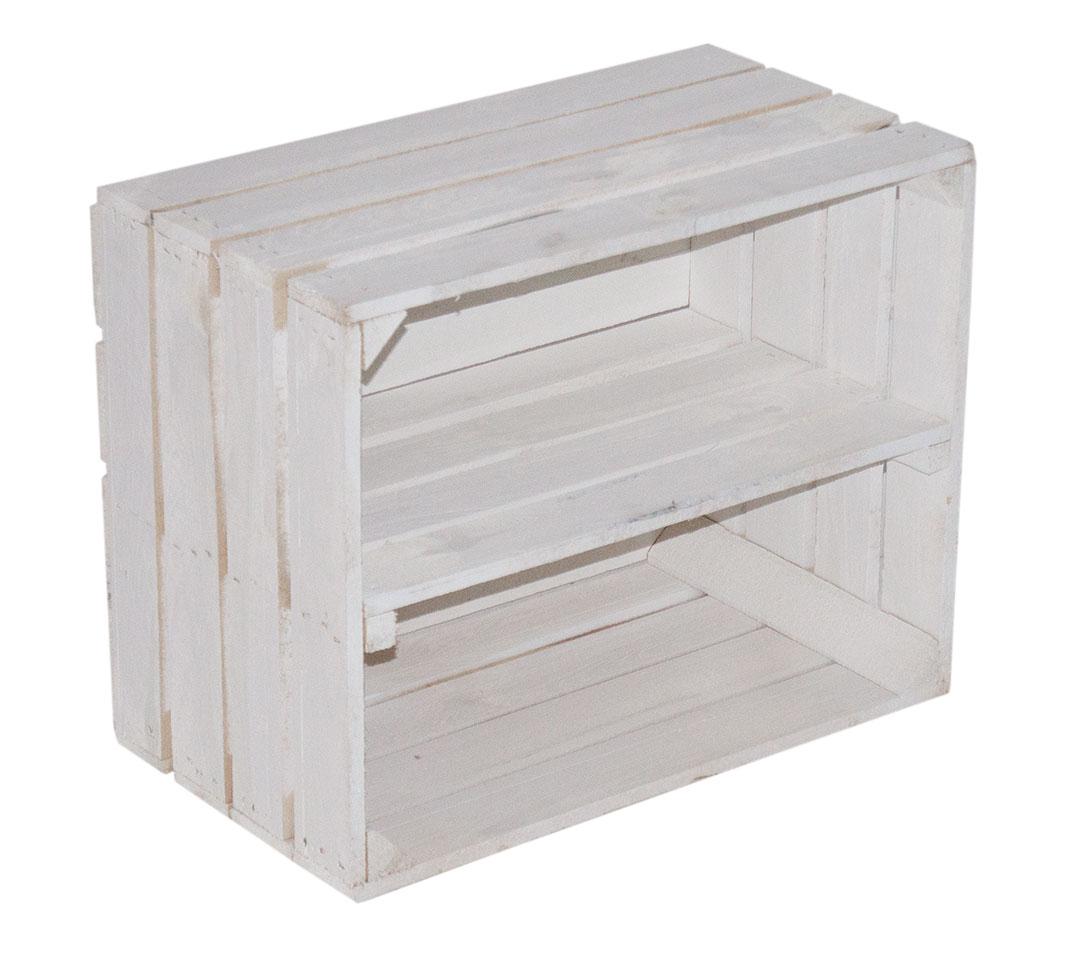 Weiße Kiste für Schuh- und Bücherregal  50x40x30cm