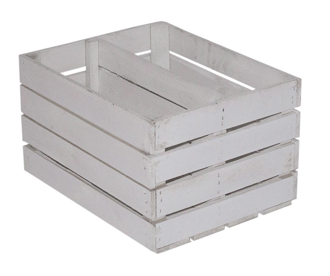 Weiße Kiste mit Mittelbrett