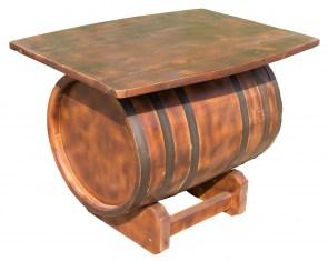 restposten m bel fass als couchtisch obstkisten. Black Bedroom Furniture Sets. Home Design Ideas