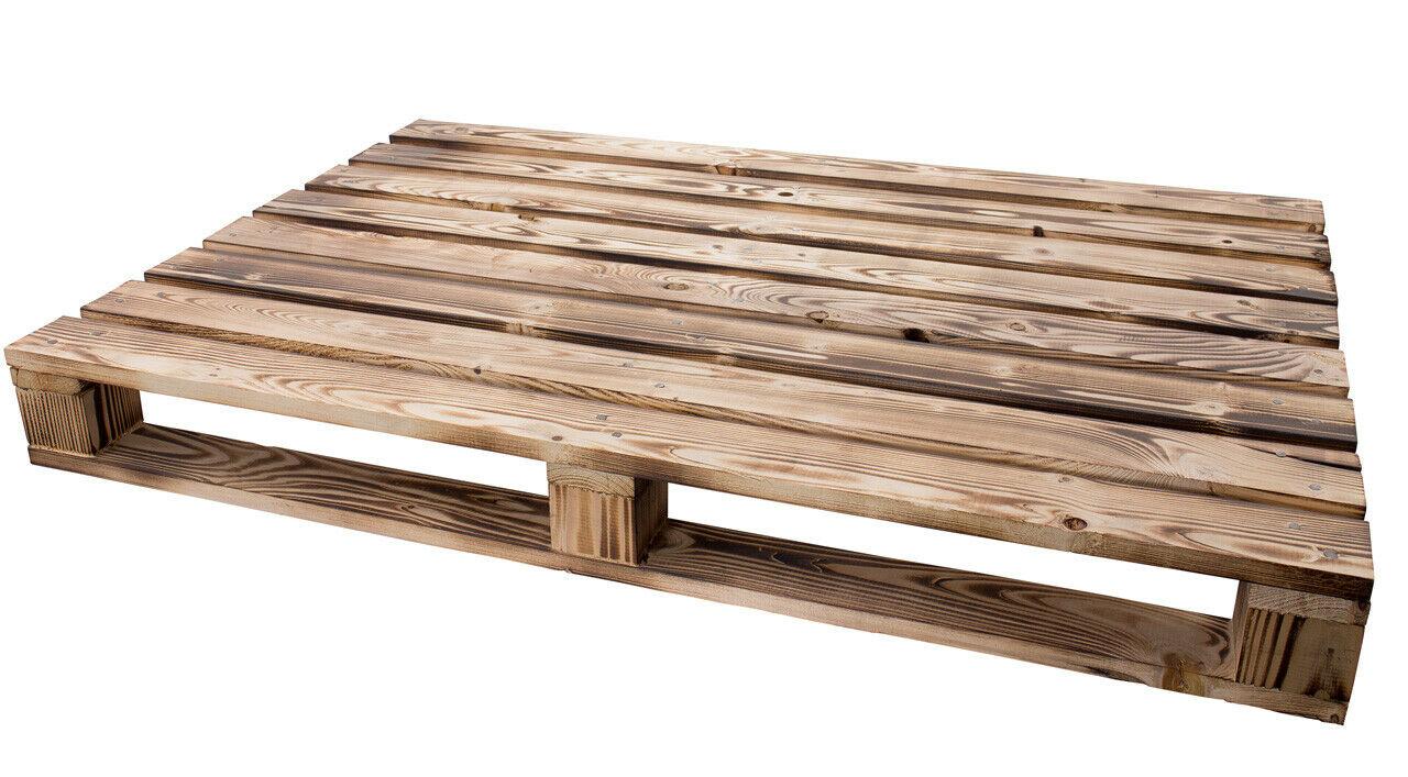 Geflammte Holzpalette 120x60x12,5cm