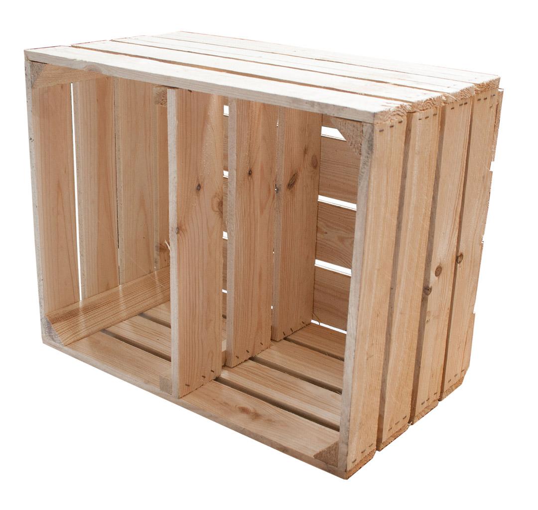 RegalBaukasten  Kiste mit Mittelbrett quer  ~ Bücherregal Quer