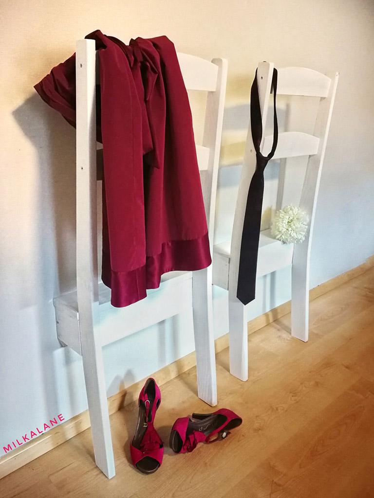 upcycling 2er paket stummer diener halbierter stuhl shabby 42x13x106cm obstkisten. Black Bedroom Furniture Sets. Home Design Ideas