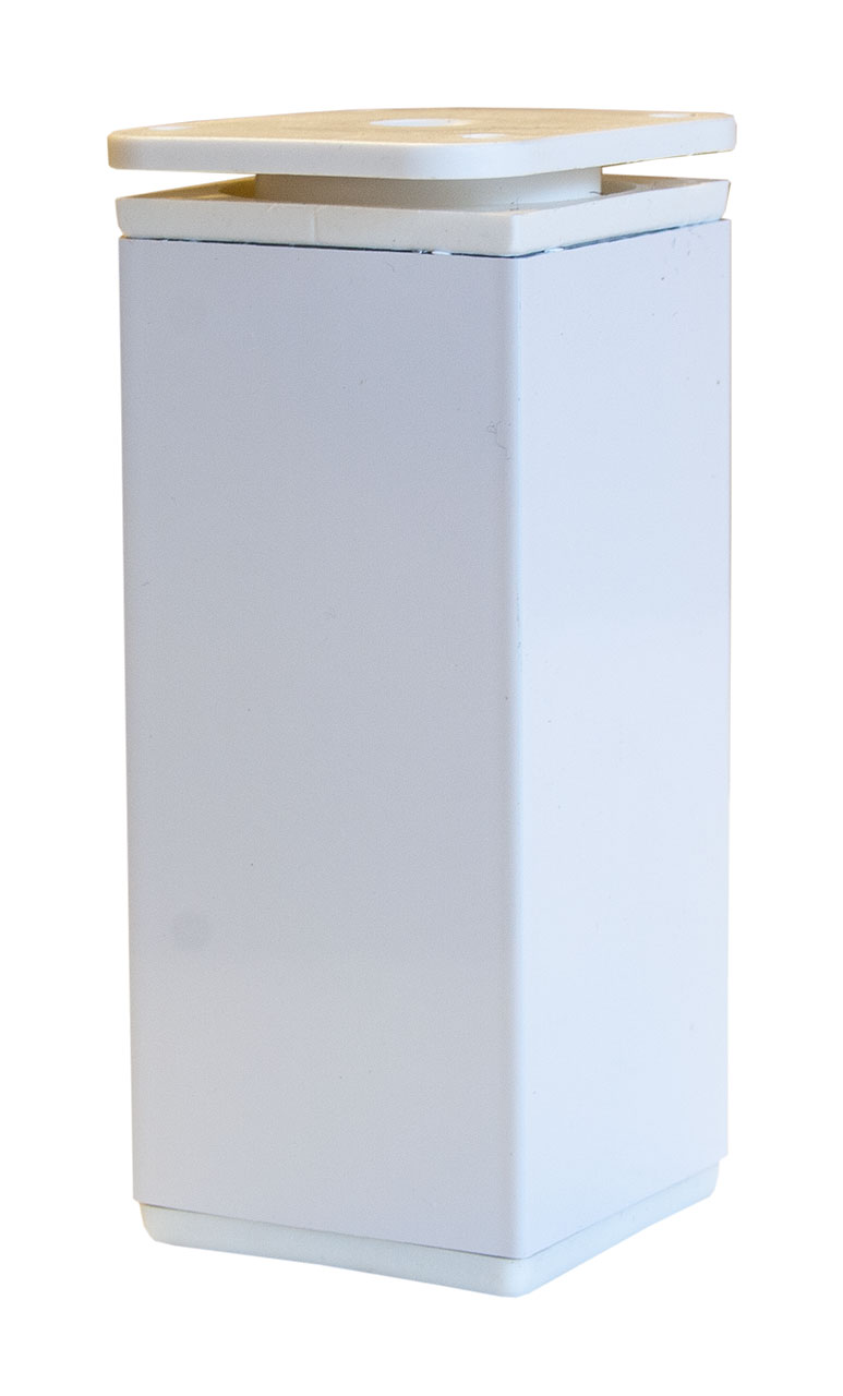 Tischbein eckig / weiß (10-11,5cm)