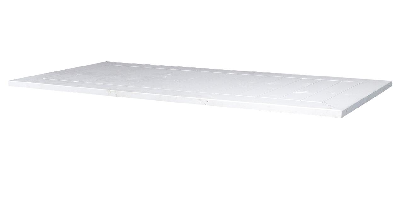 Schreibtisch weiße Holzplatte 150x70cm