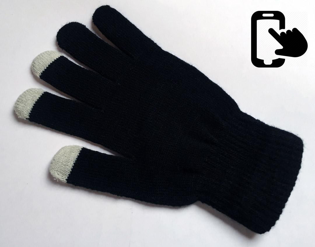 Touchscreen-Handschuhe - Unisex - schwarz/grau