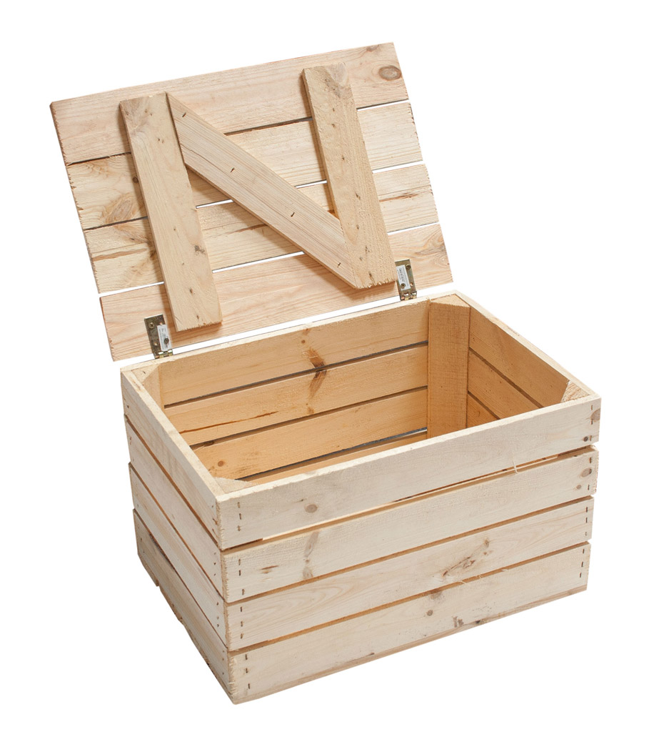 Neue Holztruhe natur *klein* 48x36x28cm